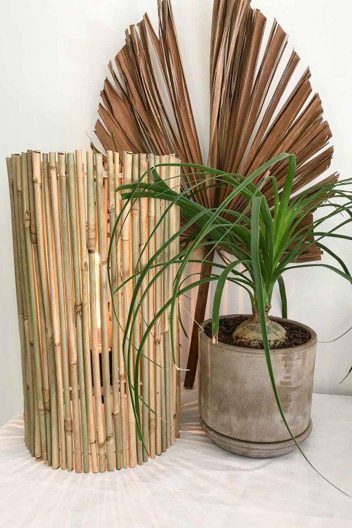 Natural bamboo lamp DIY | Dossier Blog