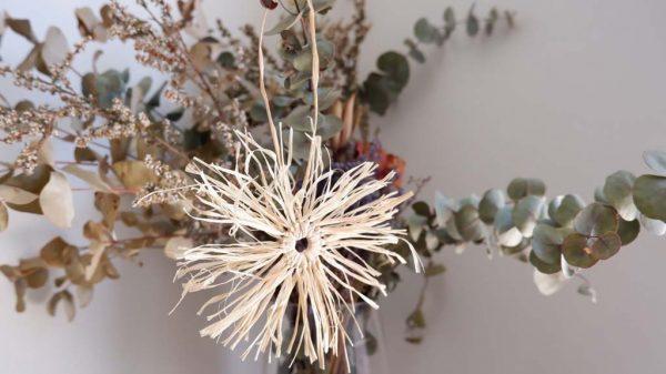 raffia sunburst decorations | Angie Douglas