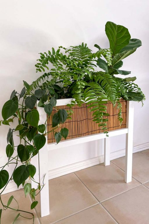 DIY rattan planter box | Dossier Blog
