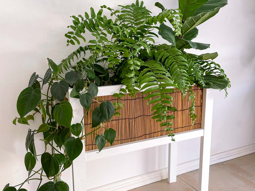 make this rattan style planter box | Dossier Blog