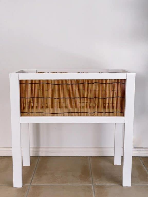 Complete rattan style planter box empty | Dossier Blog