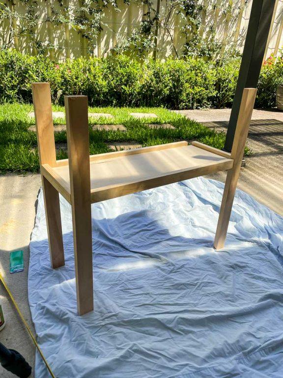 Adding legs to the frame | Dossier Blog