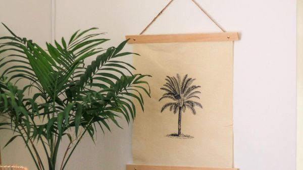 make this calico printed wall art | Dossier Blog