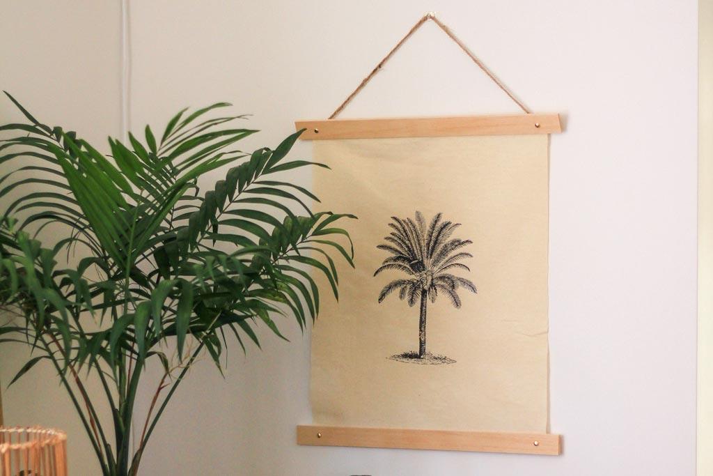 make this calico printed wall art | Dossier Blog