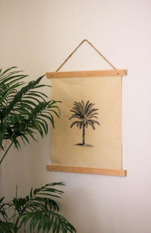fabric printed wall art decor | Dossier Blog